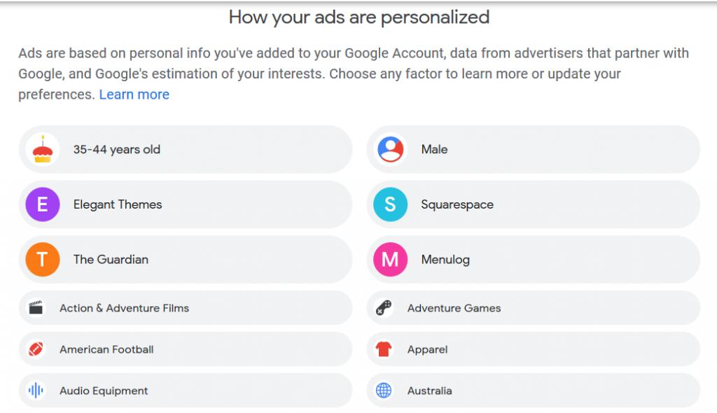 Google Ads - see outline for details