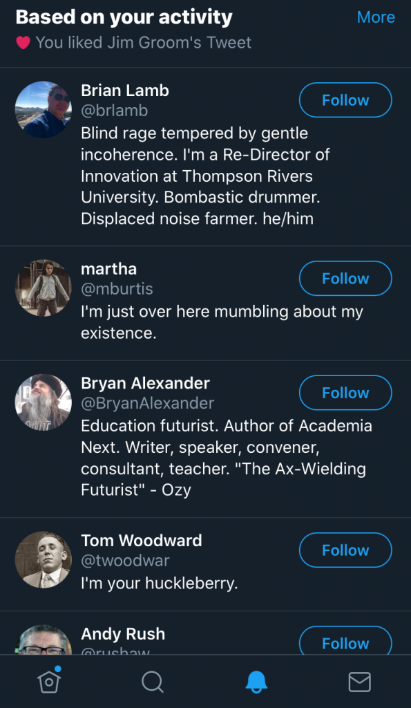 Twitter 'recommendations' based on a liked tweet