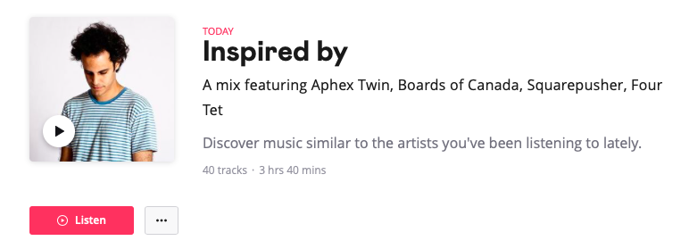 A mix featuring Aphex Twin, Boards of Canada, Squarepusher, Four Tet