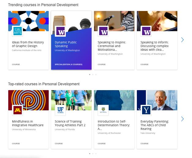 Coursera Personal Development