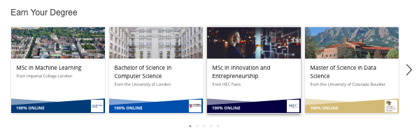 Coursera 'Earn Your Degree'