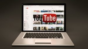 youtube on a laptop